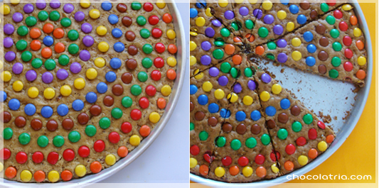 cookie pizza ou pizza de cookie
