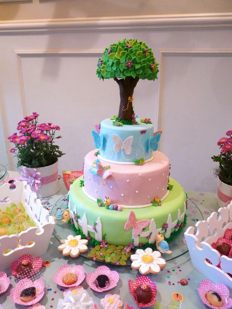 decoracao de aniversario jardim das borboletas:Butterfly Garden Cake