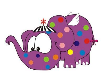 Resultado de imagem para elefantinho colorido